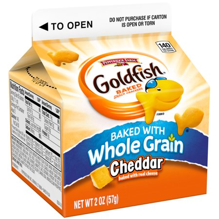 ... Goldfish Whole Grain Cheddar Baked Snack Crackers 2 oz. Carton