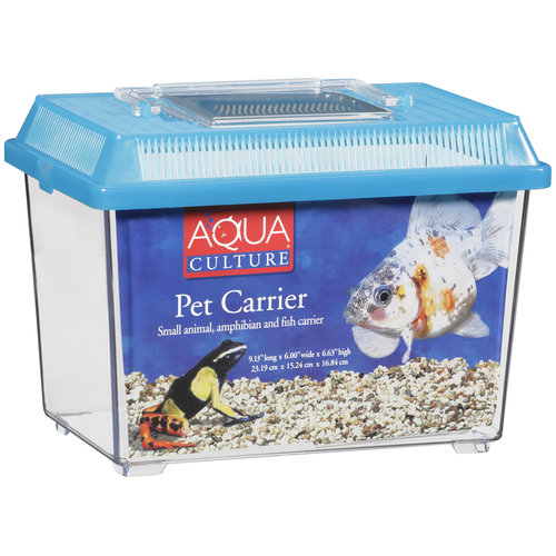Aqua Culture Pet Carrier for Small Animals/Amphibians & Fish