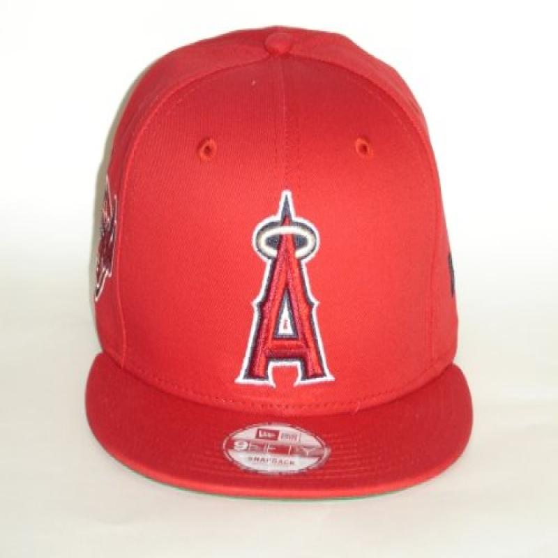 New Era NewEra MLB California Angels Red Primary Fan Snap...