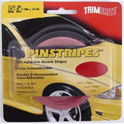 TRIMBRITE T1118 Pinstripe Tape, Red, 0.12 In. X 36 Ft.