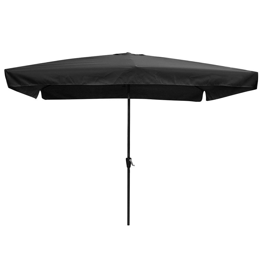 Yescom 10x6.5ft (2x3m) Rectangle Aluminum Outdoor Patio Umbrella W/ Valance  Sunshade