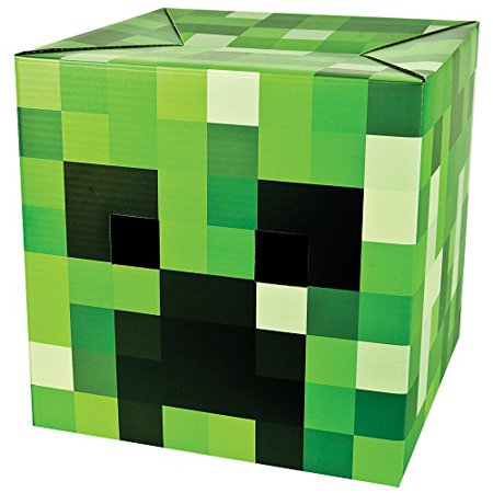 Jinx Minecraft Creeper Cardboard Head Mask Cosplay Costume