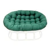 Oval Papasan Cushion w Tufts - Base not Included (Black)