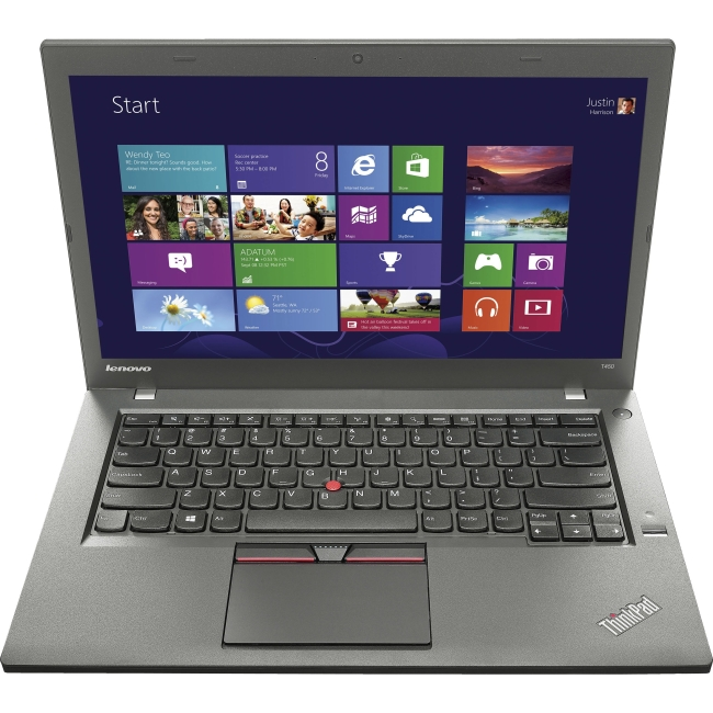 "Lenovo ThinkPad T450 14"" LED Notebook - Intel Core i5 i5-5200U Dual-core (2 Core) 2.20 GHz - Black 20BV0005US"