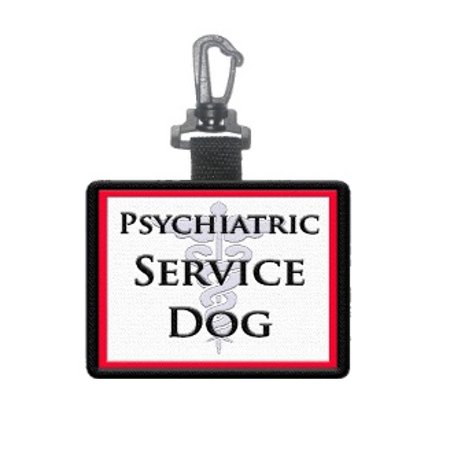 """Psychiatric Service Dog"" Identification Patch Tag"