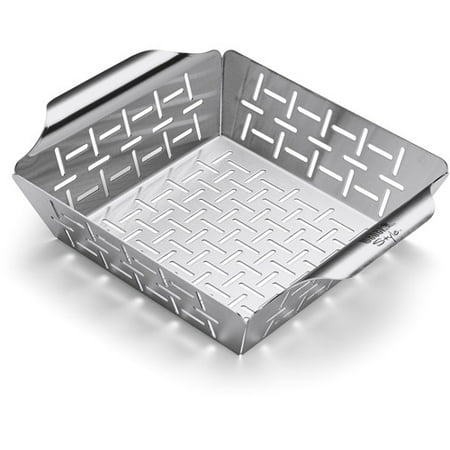 Stainless Steel Grill Basket - Weber Style Small Stainless Steel Vegetable Basket