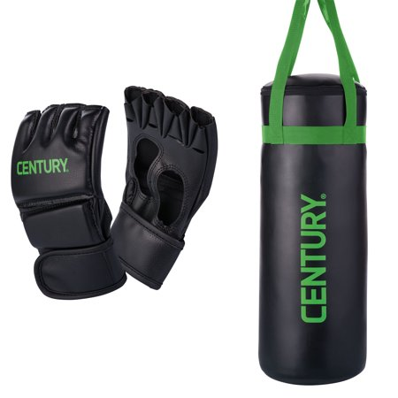 Century Martial Arts Youth Boxing MMA Training Bag and Kid Glove Combo Set ()