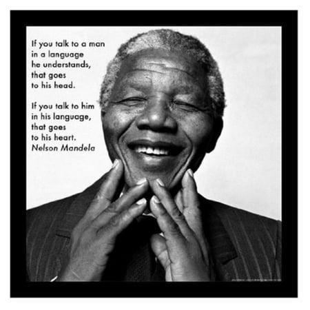 Buyartforless Nelson Rolihlahla Madiba Mandela Quote Framed Wall Art
