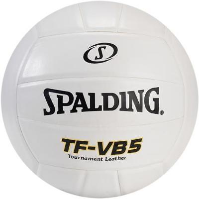 Spalding TF-VB5 NFHS Leather Volleyball, White