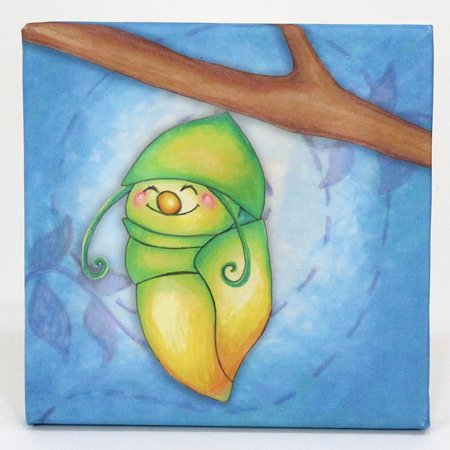 Childrens Caterpillar to Butterfly Growing Kids Collection Cocoon Canvas Print Wall Art