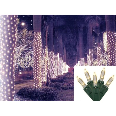 2 x 8 warm white led net style tree trunk wrap christmas lights - Netted Christmas Lights