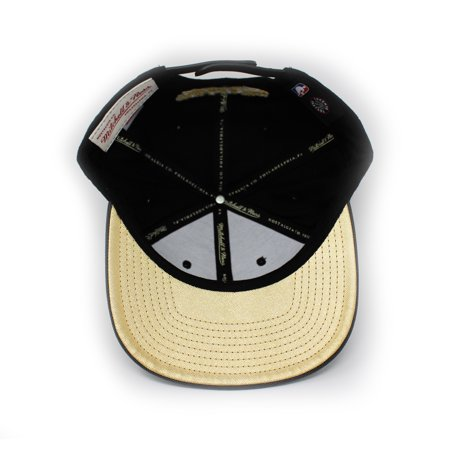 Mitchell and Ness Toronto Raptors Gold Tip Gold/Black Snapback Hat - image 1 of 4