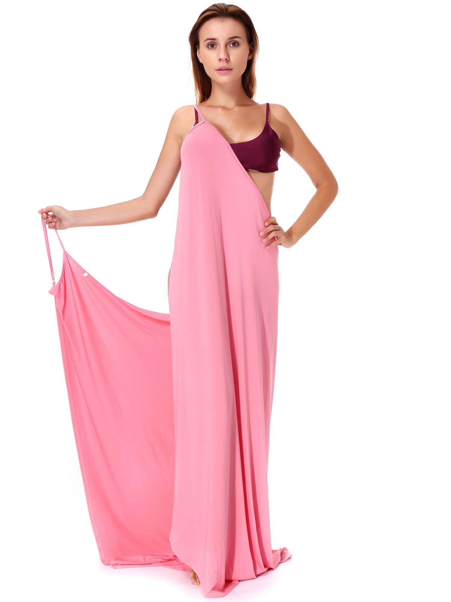 LELINTA Women's Sexy Spaghetti Strap Beach Long Dress Bikini Cover Up Swimsuit Wrap Beachwear Plus Size L/5XL
