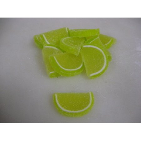 Cavalier Candies Fruit Slices Key Lime Flavor Jelly Candy 5 Pounds