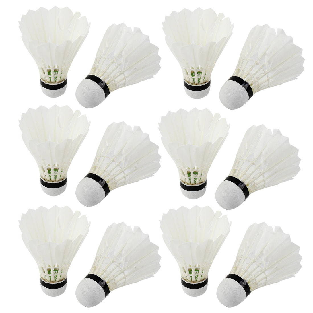 Sports Game Training Goose Feather Foam Bottom Shuttlecocks Badminton White x 12