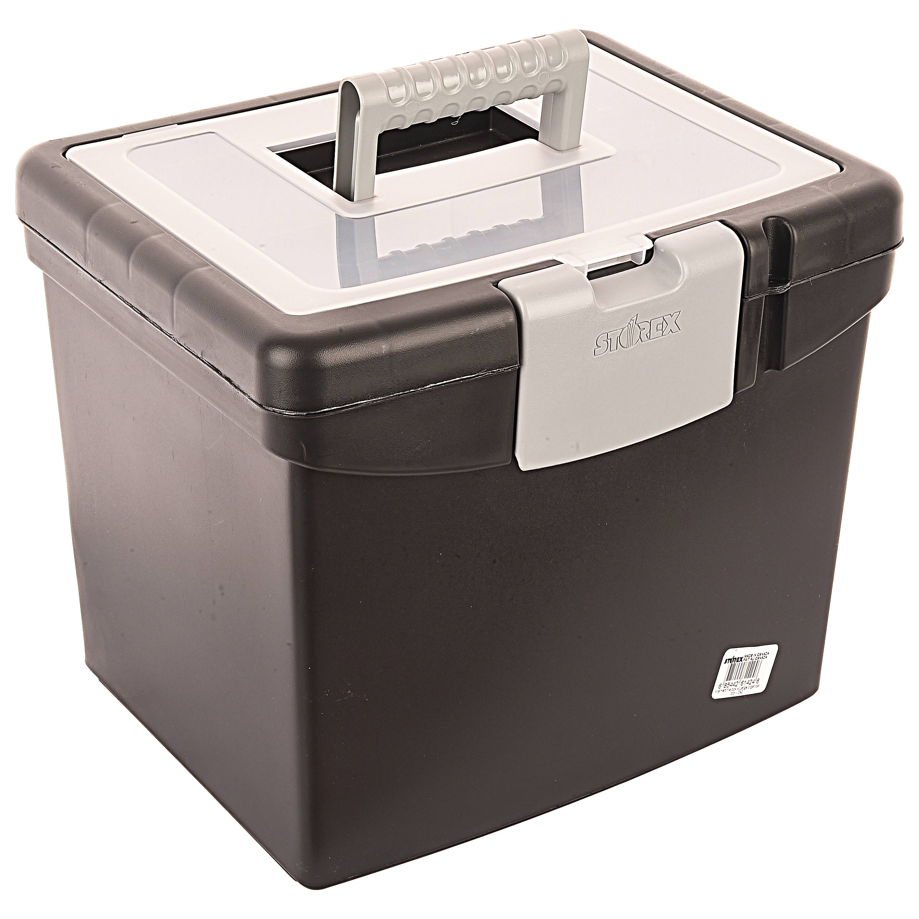 Storex File Box with Extra Large Lid and Clamping Latch