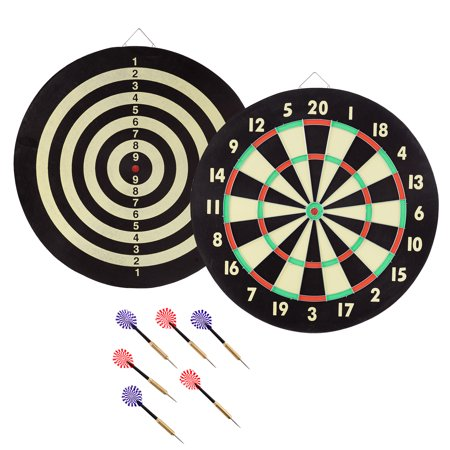 TG Game Room Dart Set with 6 Darts and Board Dart Games For Kids