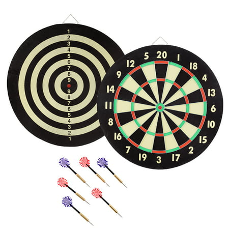 TG Game Room Dart Set with 6 Darts and Board