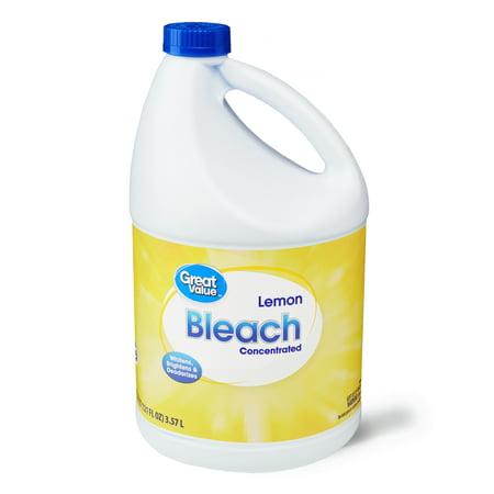 Great Value Bleach, Lemon Scent, 121 fl oz