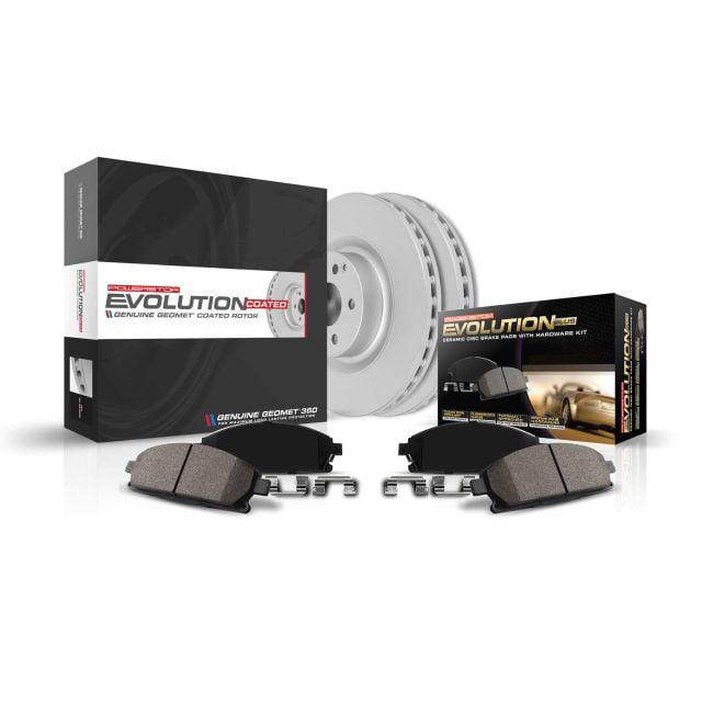 Power Stop CRK2560 front Z17 Evolution Geomet Coated Brake Kit