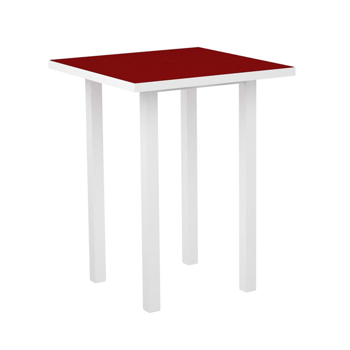 "Euro Recyled Plastic 36"" Square Pub Table by Poly-Wood Adirondack"