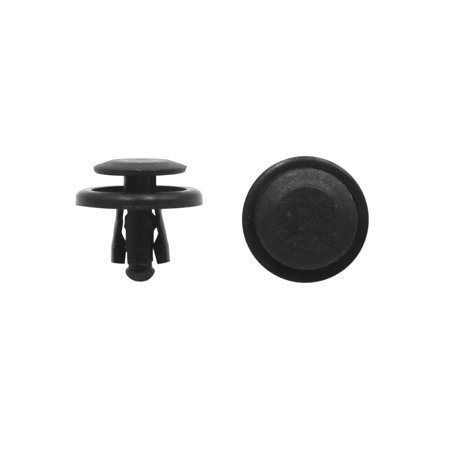 100Pcs 8mm Hole Plastic Rivets Door Bumper Fender Retainer Push in Clips for Car - image 2 of 2