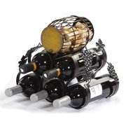 Five Bottle Wine Rack with Cork Caddy