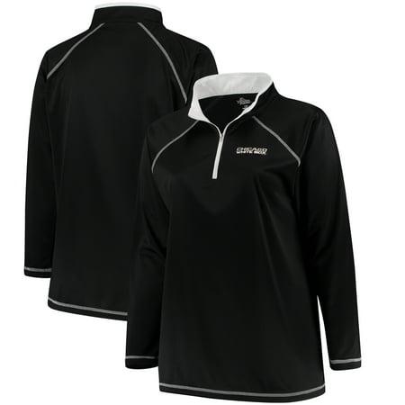 Chicago White Sox Majestic Women's Plus Size Quarter-Zip Pullover Jacket - - Sox Womens Jackets