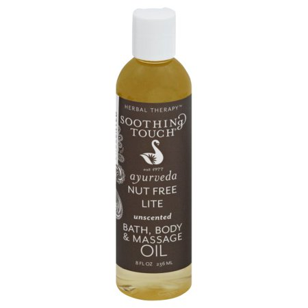 Soothing Touch  Herbal Therapy Unscented Bath Body & Massage Oil, 8 fl -