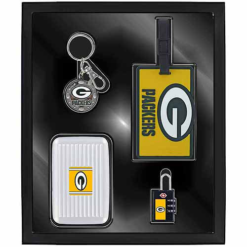 Aminco Sports 4-Piece Travel Box Set, Green Bay Packers