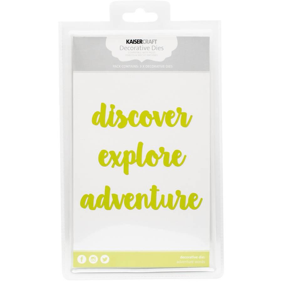 "Kaisercraft Dies, Discover, Explore, Adventure, 1"" x 4.75"""