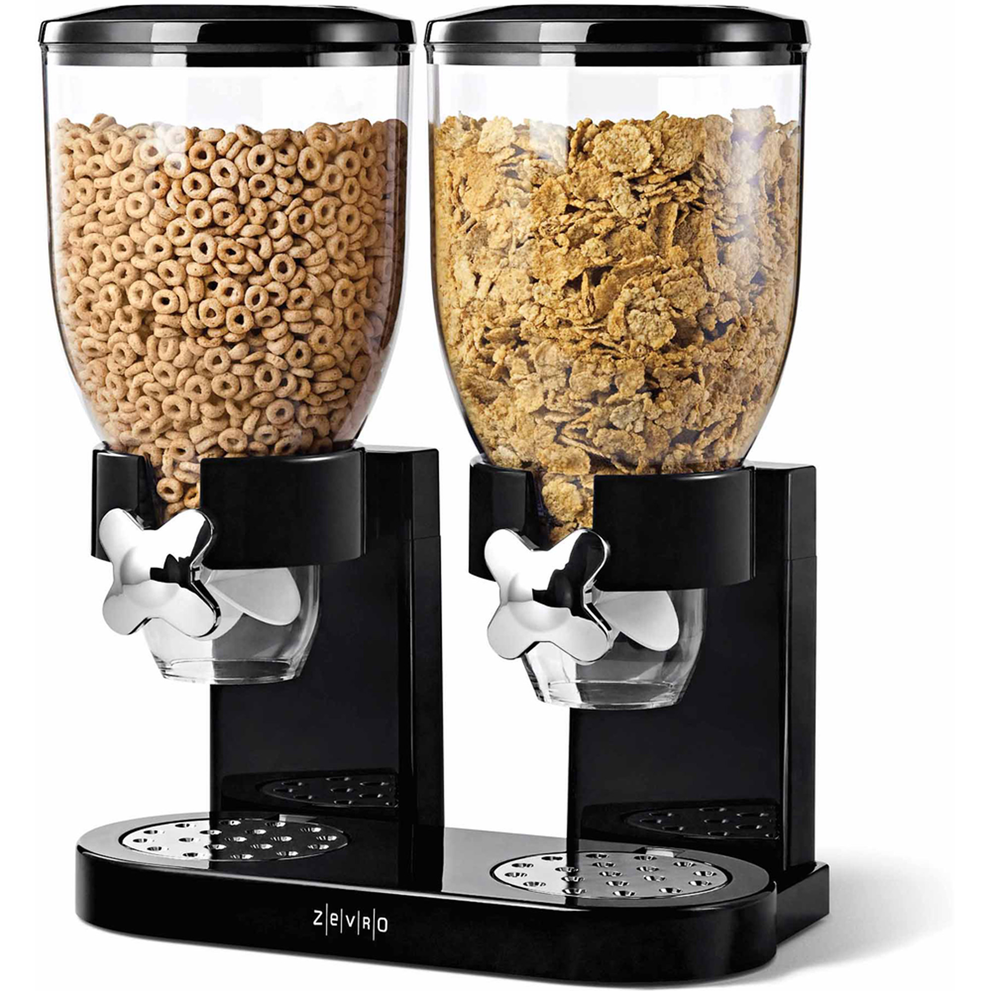 Zevro by Honey Can Do Double 17.5 oz. Cereal Dispenser, Multicolor