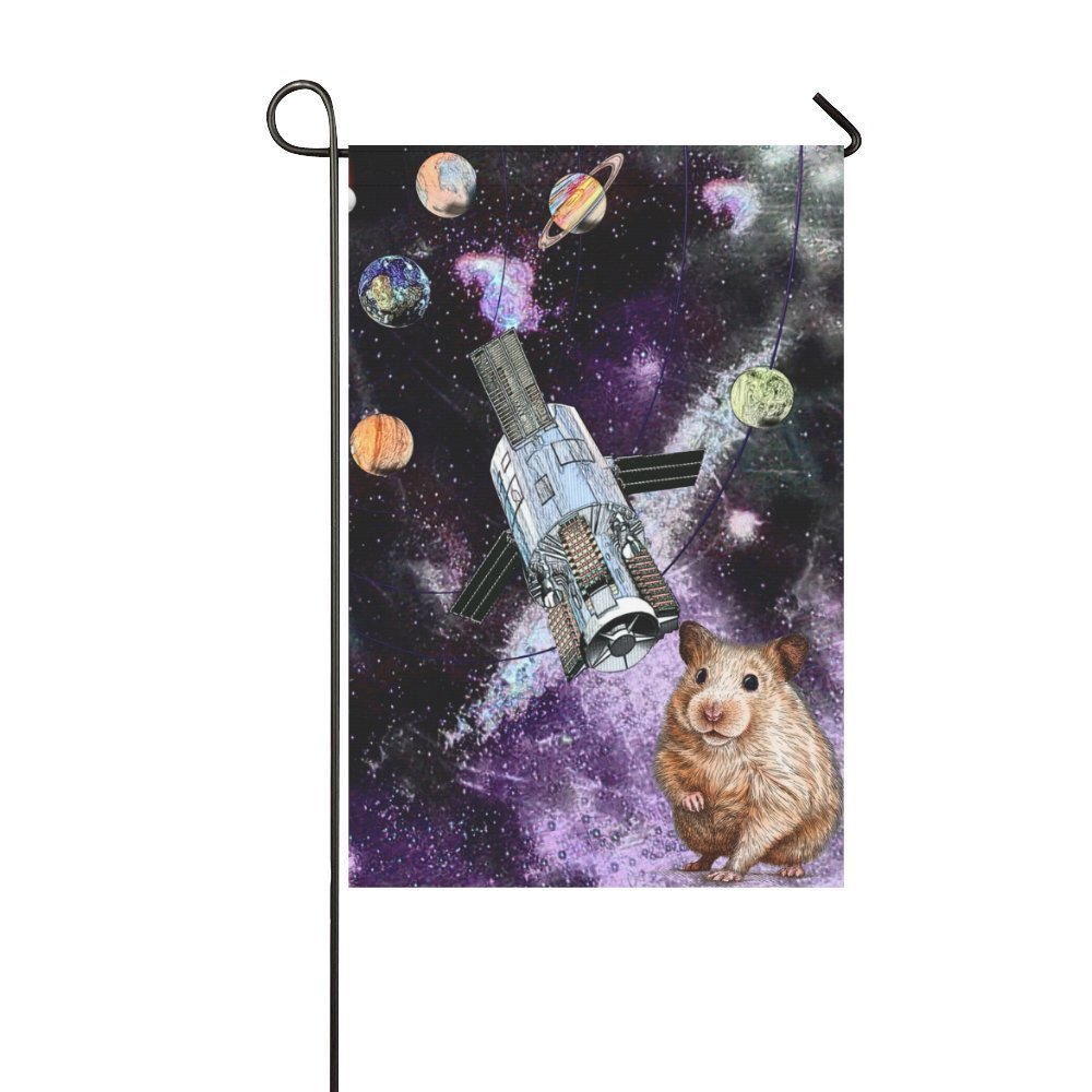 MYPOP Animal Marmots in Space Galaxy Solar System Garden Flag 12x18 inches by MYPOP