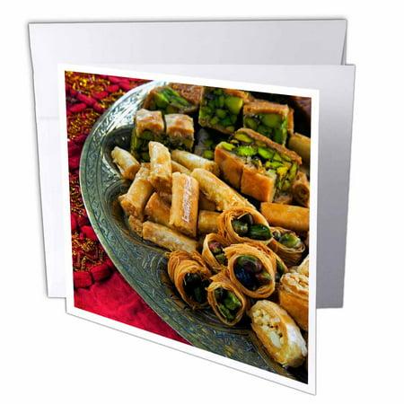 3dRose Arabic cuisine, food, arabic biscuits - LI11 NTO0000 - Nico Tondini, Greeting Cards, 6 x 6 inches, set of 6 (Arabic Cards)
