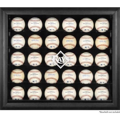 Tampa Bay Rays Fanatics Authentic Logo Black Framed 30-Ball Display Case - No Size