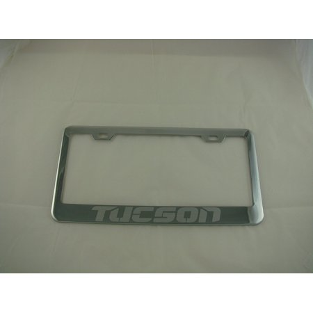 Hyundai Tucson Chrome License Plate Frame With Caps By