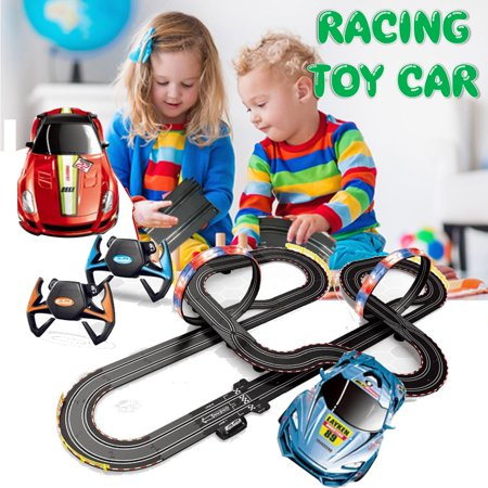 Racing Track Set Cars 2 Toys Loops Electric Slot Cars Race Stunt Loop 2 Controllers Games for Kids ()