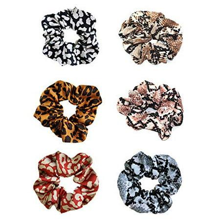 Leopard Print Cotton Scrunchie Hair Elastic Band Bobble Animal Print