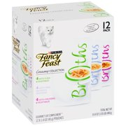 Purina Fancy Feast Broths Wet Cat Food, Creamy Collection Variety Pack, 1.4 oz