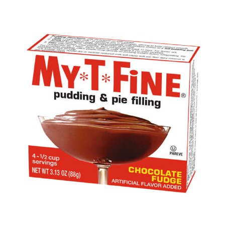 (3 Pack) MY T FINE 3.125 OZ CHOCOLATE FUDGE (Chocolate Fudge Instant Pudding And Pie Filling Mix)