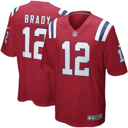 - Tom Brady New England Patriots Nike Alternate Game Jersey - Red