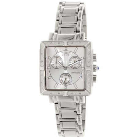 Womens Diamond Accent Watch (Women's 5377 Angel Diamond-Accented Stainless Steel)