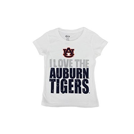 "Team Athletics Girl s NCAA Auburn Tigers "" I Love the Auburn Tigers "" T-Shirt"