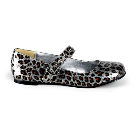 DAISY-04, Maryjane Cheetah Flat Shoes