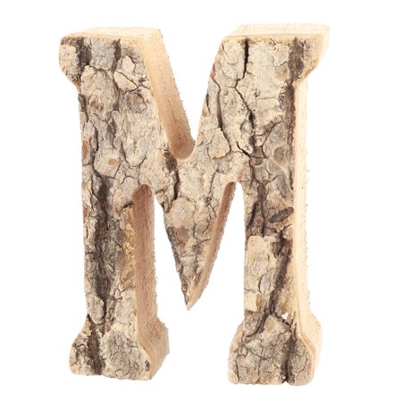 Unique Bargains Family Street Wood M Shaped Retro Style Door Plate Letter Label Sign Wall Decor ()