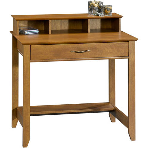 Mainstays Cardinal Hill Writing Desk Hazelwood Walmart Com