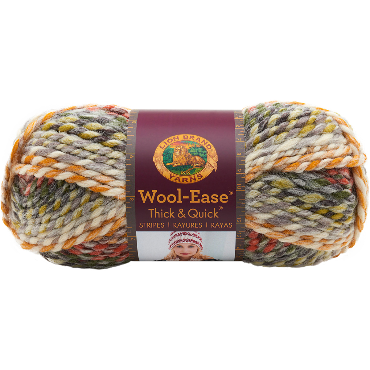 Lion Brand Wool-Ease Thick & Quick Yarn-Fossil