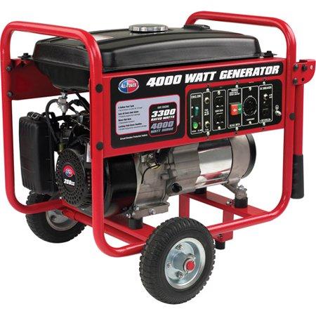 All Power 4000 Watt Generator APGG4000, 4000W Gas Portable Generator for Home Use Power Backup, RV Standby, Hurricane Damage Restoration Power Backup, EPA Certified