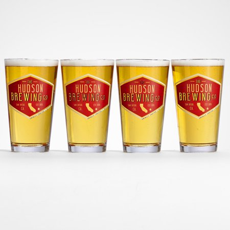 Personalized RedEnvelope Personalized Home State Pub Glasses
