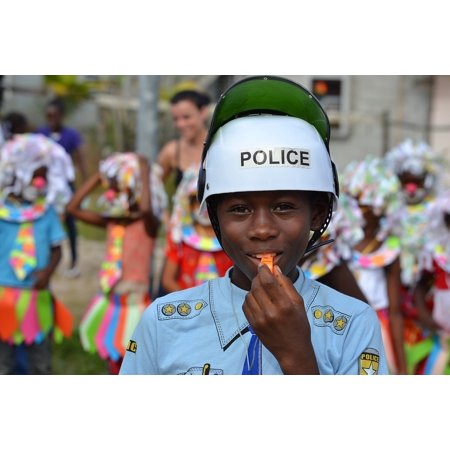 LAMINATED POSTER Costume Carnival Disguise Child Police Poster 24x16 Adhesive Decal